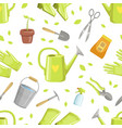 different garden tool seamless pattern vector image