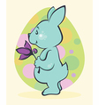 easter rabbit card vector image vector image