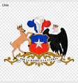 emblem of chile vector image