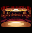 empty theater stage vector image vector image