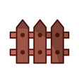 fence wooden isolated icon vector image