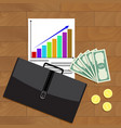 financial business growth top view vector image
