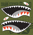 flying tigers warhawk usa shark mouth red sticker vector image vector image