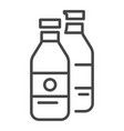 garbage bottle icon outline style vector image vector image