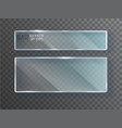 glass transparent banners plates vector image vector image