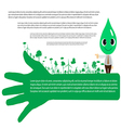 Go green concept Save world vector image vector image