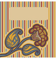 Greeting card with floral design vector image vector image