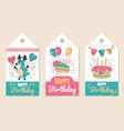 happy birthday party event celebration label vector image