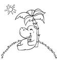 happy hippo vector image