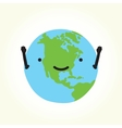 Happy planet Earth vector image