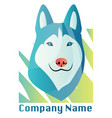 husky dog logo design on a white background vector image