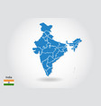 india map design with 3d style blue india map and vector image