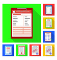 isolated object form and document icon vector image
