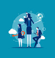 leader team business concept business vector image vector image