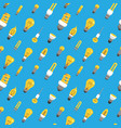 light bulb seamless pattern color lamp background vector image vector image