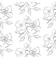 line drawing floral seamless pattern vector image vector image