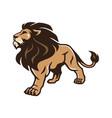 lion stand pride logo mascot design vector image