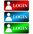 Login icons set vector image