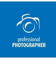 logo camera the photographer vector image vector image