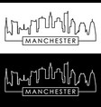manchester skyline linear style editable file vector image vector image