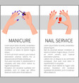 manicure and nail service card vector image
