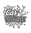 monochrome template for car wash logo design with vector image vector image
