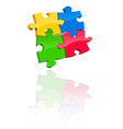 Multicolored jigsaw puzzle