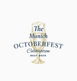 munich oktoberfest celebration best beer abstract vector image vector image