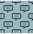 Pale blue cardiology message pattern vector image vector image