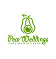 pear weddings photography vector image