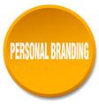 personal branding orange round flat isolated push vector image vector image