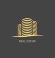 real estate designlogo templateclean vector image vector image