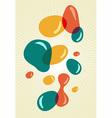 Retro style colors bubbles vector image vector image