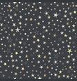seamless trendy pattern of golden stars of vector image