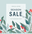 season sale leaves frame vector image
