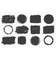 set grunge frames vector image