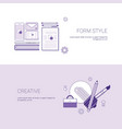 set of form style and creative banners business vector image vector image