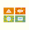 set seamless pattern and labels for soap vector image vector image