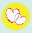 single icon with hearts vector image vector image
