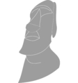 statue head Easter Island vector image