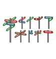 street signs arrows vector image