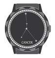 The watch dial with the zodiac sign Cancer vector image vector image