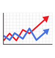 trend up graph icon in trendy isolated on white vector image vector image