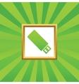USB stick picture icon vector image