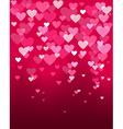Valentines day heart shape bokeh light love card vector image vector image