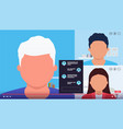 video conference call communication screengroup vector image vector image