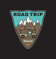 vintage road trip adventure badge sticker vector image vector image