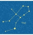 Virgo Zodiac Symbol on Background of Cosmic Sky