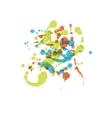 watercolor splash vector image vector image
