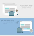 web development design brochure two variants vector image